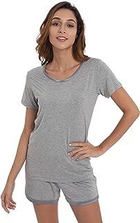 Women's Pajamas Set Bamboo Viscose Short Sleeve Sleepwear Pj Set S-4X