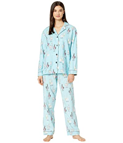 P.J. Salvage Happy Llamakah PJ Set (Aqua) Women
