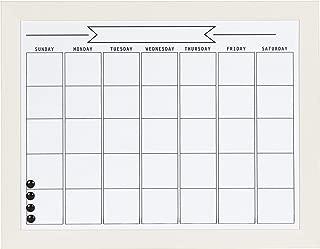 DesignOvation Beatrice Framed Magnetic Dry Erase Monthly Calendar, 23x29, White