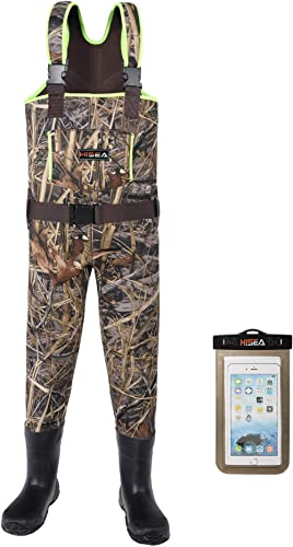 HISEA Kids Chest Waders Neoprene Fishing Waders for Toddler & Children Youth Duck Hunting Waders for Kids Boy and Gir...