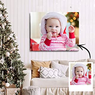 Personalized Canvas Prints with Your Photos Custom Photo Wall Art Painting Canvas Photo to Canvas Chiristmas Decor Gift Id...