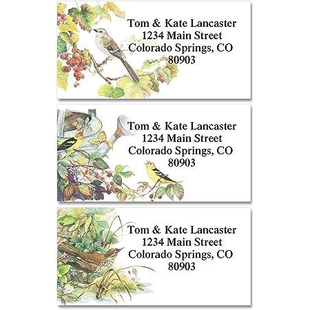 Return address label Address sticker. Self-adhesive address label Tree Bird address label Set of 100 Custom Return Address Labels