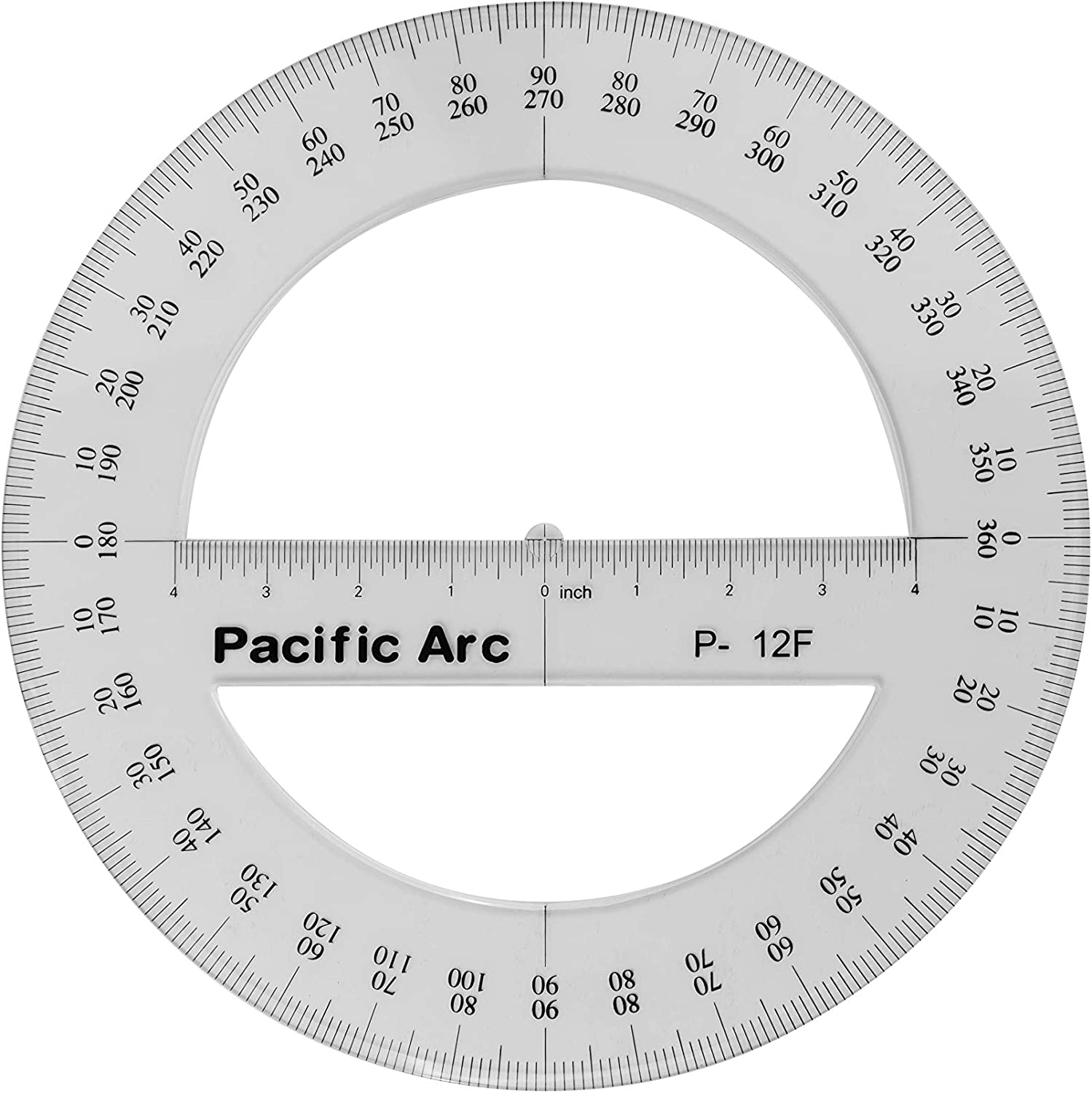Pacific Arc's 12 Inch 360 Sale SALE% OFF Protractor Ranking TOP3 Cle Plastic Circular Degree