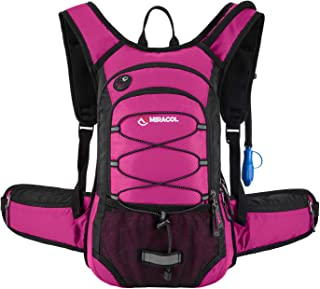MIRACOL Hydration Backpack with 2L Water Bladder, Thermal Insulation Pack Keeps Liquid..