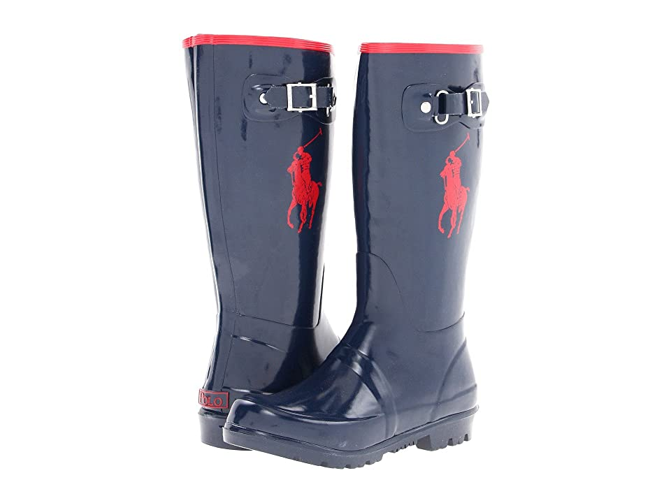 Polo Ralph Lauren Kids Ralph Rainboot (Little Kid) (Navy/Red Rubber) Kid