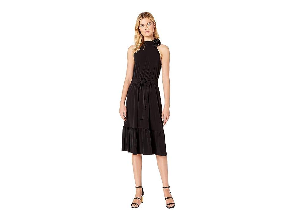 MICHAEL Michael Kors Halter Neck Midi Dress (Black) Women