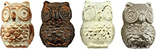 Set of 4 Cast Iron Owl Cabinet and Furniture Knobs