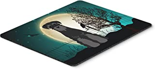 Caroline's Treasures Halloween Scary Standard Schnauzer Black Mouse Pad, Multicolor, 7.75x9.25 (BB2222MP)
