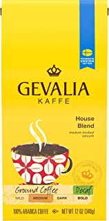 Gevalia Decaf House Blend Ground Coffee (12 oz Bags, Pack of 6)
