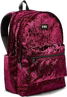 Victoria's Secret Pink NEW! VELVET CAMPUS BACKPACK Ruby