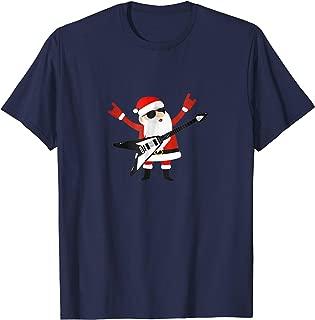 Rock Santa Claus With Electric Six String Rockstar Tee