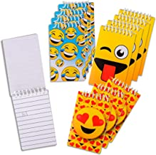 Kicko Mini Spiral Emoticon Notebook - 12 Pack - 2.4 X 3.6 Inch Ruled Composition Notepads for Students and Professionals - Journals, Diary, Homework, Scratches, Idea, Party Favors