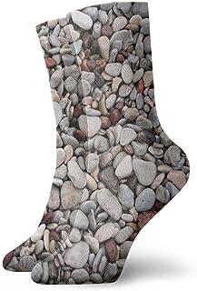 tyui7, Montón de calcetines de compresión antideslizantes de grava Stones Calcetines deportivos acogedores de 30 cm para hombres, mujeres y niños