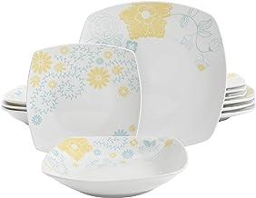 Gibson Summerfield 12 PC Dinnerware Set, Decorated, Porcelain