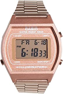 Casio Women's B640WC-5AEF Retro Digital Watch (Rose Gold)