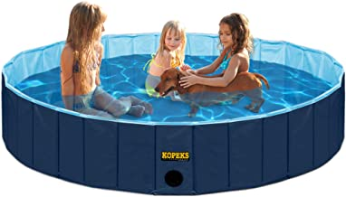 Sponsored Ad – Outdoor Swimming Pool Bathing Tub - Portable Foldable - Ideal for Kids or Pets - 160 x 30 cm - Dark and Lig...