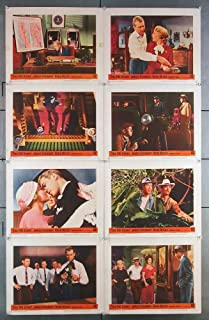 The Fbi Story (1959) Original U.S. Lobby Card Set Movie Poster Eight Individual Cards JAMES STEWART VERA MILES NICK ADAMS MURRAY HAMILTON LARRY PENELL CHARLES BRUNNER JEAN WILLES Film Directed by MERVYN LEROY