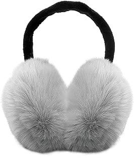 Reindeer design Faux fur trim headphone//earmuffs