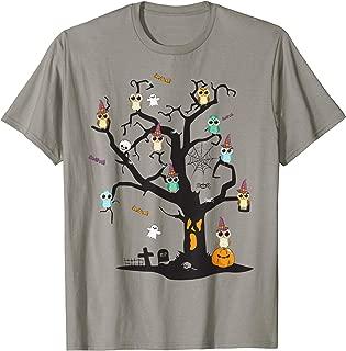 Owl With Pumpkin Halloween Tree Halloween Costumes Gifts T-Shirt