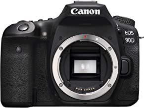 Canon 90D Digital SLR Camera [Body Only], Black (3616C002)