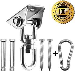 Yimer Hammock Hanging Kit, 1000 lb Capacity Heavy Duty 360° Rotate Swing Ultra Durable Hooks for Swing, Chair, Yoga, Multiple Indoor Outdoor Gym