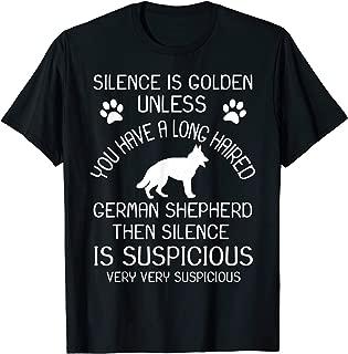Long Haired German Shepherd Tshirt Funny Long-Hair GSD Gift