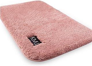 KMJ バスマット お風呂マット 速乾 サラサラ シャギー カーペット モコモコ ふわふわ 丸洗い 耐久良い プレミアム (ピンク, 50cmx80cm)