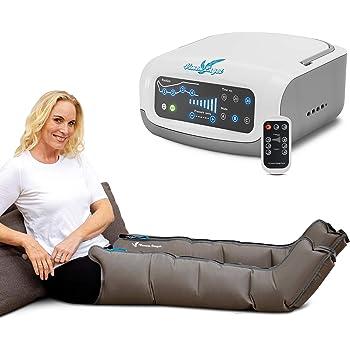 Vein Angel 4 Premium apparecchio per massaggi con gambali, 4 camere d'aria disattivabili, pressione & durata facilmente regolabili, 3 programmi di massaggio, no pressoterapia