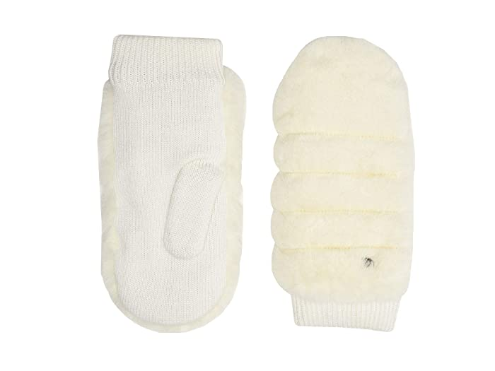 UGG  All Over Faux Fur Mitten with Sherpa Lining (Ivory) Extreme Cold Weather Gloves
