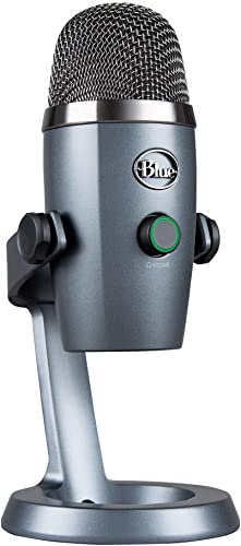 lowest Blue Yeti Nano USB Microphone for PC & Mac, online sale Gaming, Streaming and Recording Microphone, Condenser Mic with Blue VO!CE Effects, Multiple Pickup Patterns & No-Latency Monitoring - Shadow lowest Grey online
