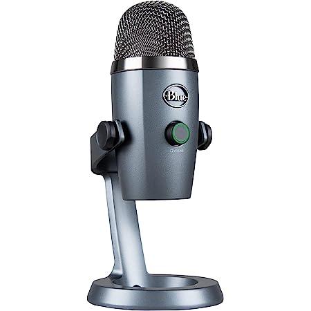Blue Micrófono Yeti Nano de condensador USB de doble patrón, con efectos vocales Blue VO!CE, tamaño compacto, sin latencia, para gaming, streaming y podcasting en PC y Mac - Gris