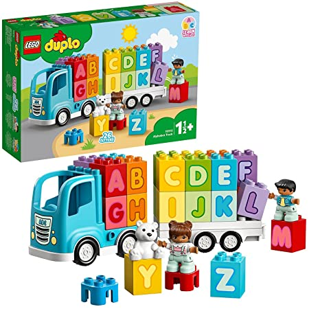 LEGO 10915 Duplo My First Le Camion des Lettres, Jouet Éducatif pour Bébé De 1 an et Demi, Briques d'apprentissage Alphabet Enfant