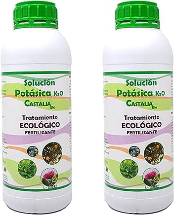 Castalia - Jabón Potásico Ecológico - Pack 2 de litros Total - Fertilizante e Insecticida de Alta Eficacia contra Mosca Blanca, Araña Roja, Trips, Cochinilla y Pulgón - No Tóxico y Biodegradable