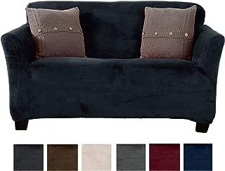 velvet plush form fit stretch loveseat slipcover