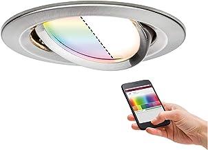 Paulmann 92964 Nova Plus LED inbouwlamp Smart Home Zigbee rond zwenkbaar 1x2,5W RGBW dimbare inbouwspot ijzer geborsteld s...