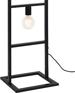 [lux.pro] Stehleuchte 142,5 cm Design stylisch schwarz metall home Dekoration Standleuchte Wohnzimmer Schlafzimmer Lampe