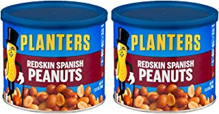 Planters, Redskin Spanish Peanuts with Sea Salt, 12.5oz Can (Pack of 2)
