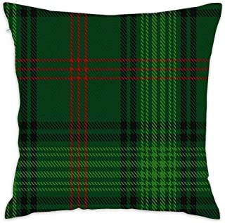 Lovwepilo Ross Hunting 2 Clan Family Tartan Throw Pillow Cover Decorative Square Pillow Covers Square Cushion Case Sofa Durable Modern Stylish (18