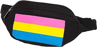 Rising Phoenix Industries Gay Pride Fanny Pack Rainbow, Pride Flag Bum Bag, Transgender Bisexual Pansexual Waist Pack (Pansexual Pride Flag)