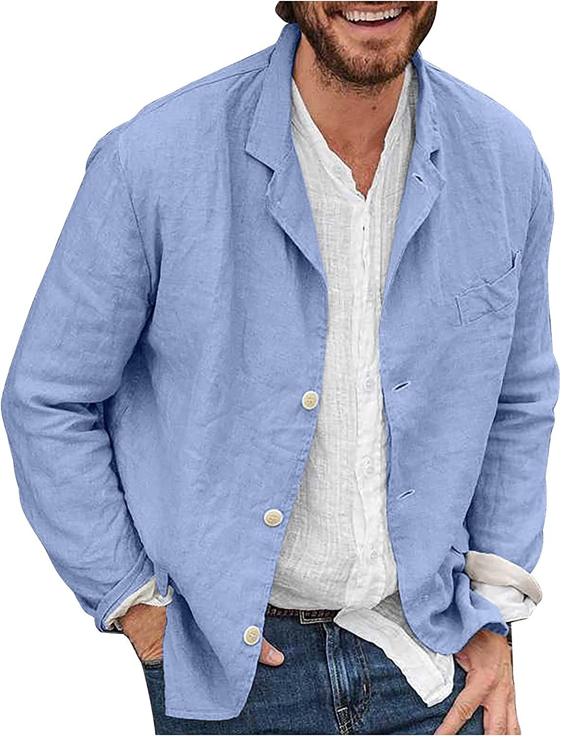 BUYYA Max 55% OFF Men's Solid Color Loose Comfortable Jacket Everyday 5% OFF Casual
