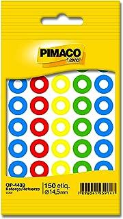 Reforço autoadesivo 14, 5mm colorido 886629 Pimaco, BIC, 886629, Multicor, pacote de 5