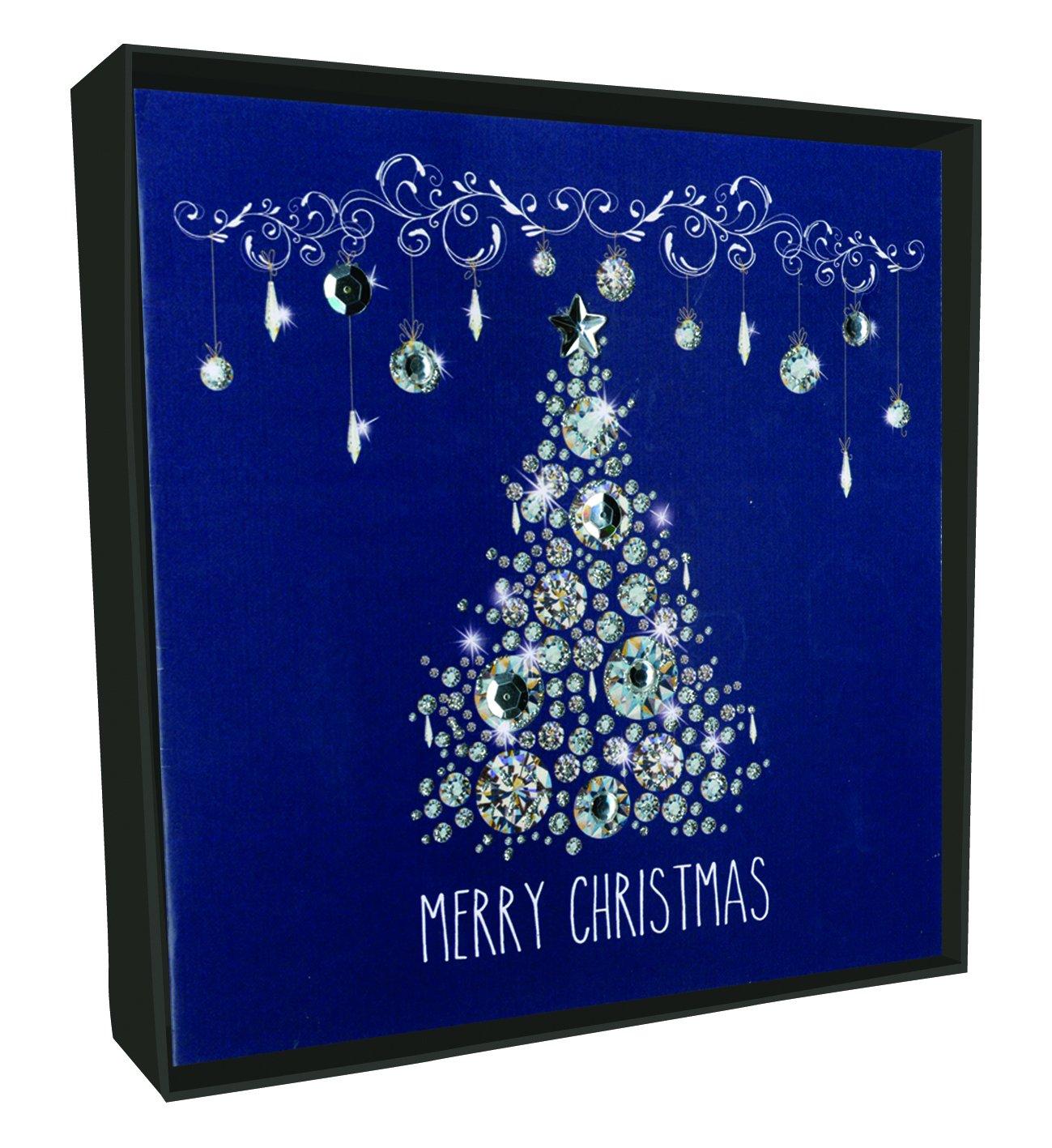 Árbol de Navidad Tarjeta de Navidad, tarjetas de Navidad de brillo en caja xlsb009 a (Pack de 6): Amazon.es: Oficina y papelería
