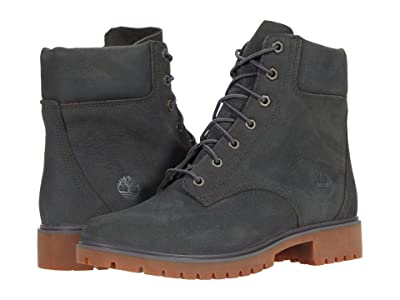 Timberland Jayne 6 Waterproof Boot (Dark Grey Nubuck) Women