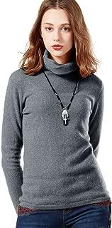 Women's Pure Cashmere Wool Lightweight Turtleneck Sweater Winter Top