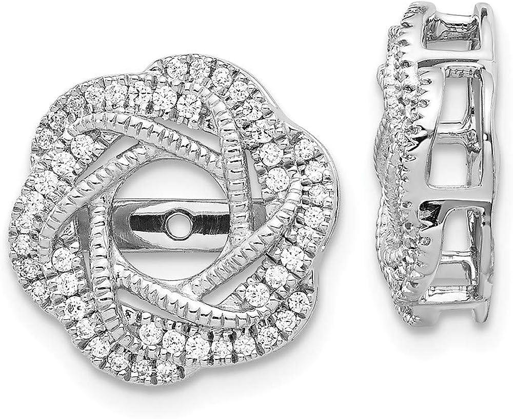 KIOKORI 14K White Gold Diamond Jacket Earring 1/3-Carat