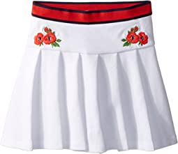 Embroidered Pleated Skirt (Toddler/Little Kids/Big Kids)