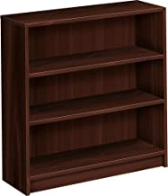 HON Mahogany Square-Edge Laminate Bookcase