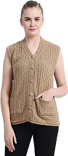 Matelco Women's Woollen Sleeveless Short Sweater with Pockets (Ad10Rk03Dp_Pink)