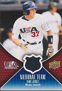 2009 UD USA Baseball Blake Smith Nat'l Team Game Used Jersey Baseball Card #USA-BS