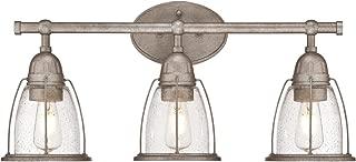 Westinghouse Lighting 6350800 North Shore Three-Light Indoor Wall Fixture, Weathered steel
